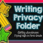 Writing Privacy Folder {writing office}
