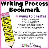 Writing Process Bookmark - cut and paste