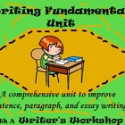 Writing Process  & Fundamentals Unit-BUNDLED-Differentiate
