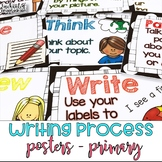 Writing Process Posters BW Polka Dot - Easy for Kinders