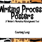 Writing Process Posters and Management - Jungle/Animal Print