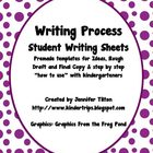 Writing Process Sheets for Ideas, Rough Drafts, and Final Copies