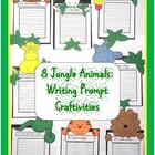 Writing Prompt Craftivities: Jungle Animals