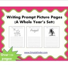 Writing Prompt Picture Pages - A Year's Set