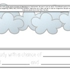 Writing Prompt/Class Book: Cloudy With A Chance of Meatballs