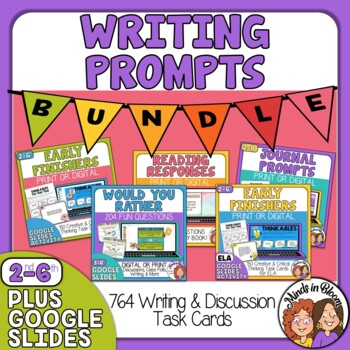 Writing Prompts Super Task Card Bundle: 764 Cards in Five Sets!