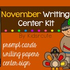 Writing Prompts and Papers~ November Writing Center