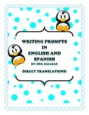 Writing Prompts in English and Spanish
