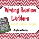 Writing Review Ladders Bundle - Zebra Theme