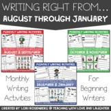 Writing Right From August Through January Bundle