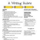 Writing Rubric based on 6 Traits