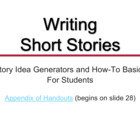 Writing Short Story: How To for Students Presentation & Handouts