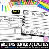 Writing Station Activities for Young Learners