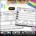 Writing Station Activities for Young Learners {Part 1}