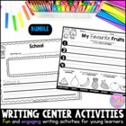 Writing Station Activities for Young Learners Bundle