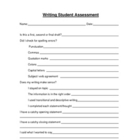 Writing Student Assessment