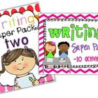Writing Super Packs One & Two BUNDLED {20 activities}