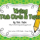 Writing Task Cards &amp; Topics to Write About