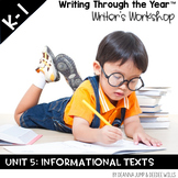 Writing Through the Year Unit 5  {Aligned with Common Core}