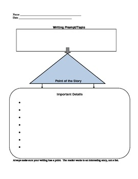 Writing Topic Organizer