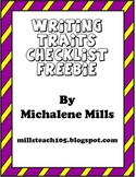 Writing Trait Checklist Freebie
