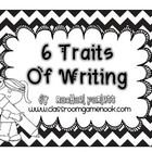 Writing Traits Bulletin Board Set {Black and White Chevron}