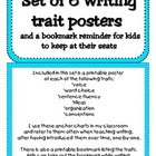 Writing Traits Posters with Turquoise Border and Bookmark