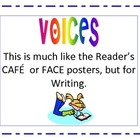 Writing 'VOICES' poster set