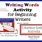 Writing Words, Literacy Center Activity SmartBoard lesson