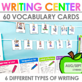 Writing Work Stations for August and September