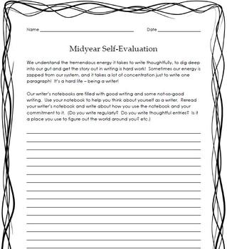 Writing Workshop Mid-year Self Evaluation