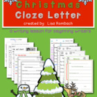 Writing a Christmas Cloze Letter lesson for beginning writers
