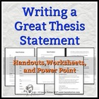Thesis Statements: Writing a Great Thesis