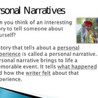 Writing a Personal Narrative Powerpt