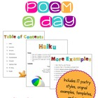 Writing a Poem a Day Poetry Unit For Big Kids