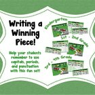 Writing a Winning Piece! Sentence Structure &amp; Goals Set fo