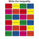 Writing inequalities Worksheet (Colored Version)