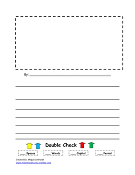 Writing sheet with double checking info on bootom