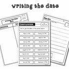 Writing the Date Sorting Activity Pack