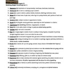 Wuthering Heights Vocabulary Lists - 3 Separate Lists