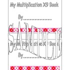 X 9 Multiplication Book
