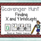 X and Y Intercepts Scavenger Hunt