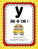 """Y as """"e"""" or """"i"""""""