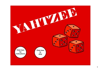 Yahtzee for the SMARTboard