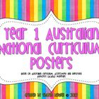 Year 1 Australian National Curriculum Posters