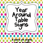 Year Around Table Signs
