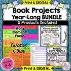 Year Long Book Projects of the Month & Genre Posters Bundled Set