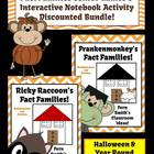 Year Round and Halloween Discounted Fact Families for Mult
