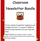 Year long classroom newsletter bundle