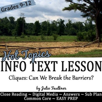 Yearbook Info Text Lesson & Media Project {Cliques Hot Topic}